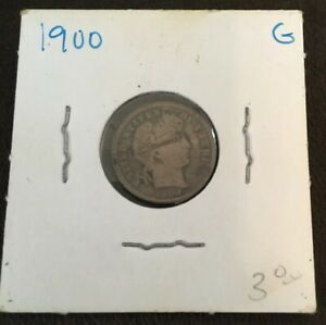 1900 BARBER DIME   WRAPPED   FAIR CONDITION