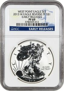 2013 W SILVER EAGLE $1 NGC PROOF 69  REVERSE PROOF EARLY RELEASES
