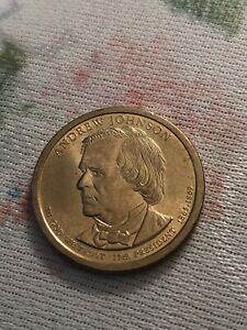 ANDREW JOHNSON ONE DOLLAR GOLD COIN 1865