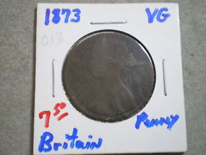 1873 ONE PENNY GREAT BRITAIN    : UNCERTIFIED :