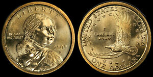 2000 P SACAGAWEA DOLLAR   BRILLIANT UNCIRCULATED FROM ORIG. BANK WRAPPED ROLL