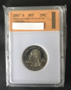 2007 S WASHINGTON STATE QUARTER   MONTANA   SLABBED LOT 317