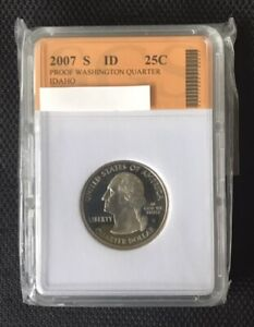 2007 S WASHINGTON STATE QUARTER   IDAHO   SLABBED LOT 315