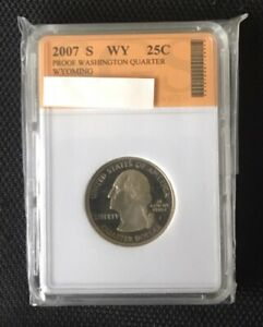 2007 S WASHINGTON STATE QUARTER   WYOMING   SLABBED LOT 294