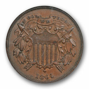 Click now to see the BUY IT NOW Price! 1864 2C SMALL MOTTO TWO CENT PIECE NGC MS 63 BN UNCIRCULATED KEY VARIETY