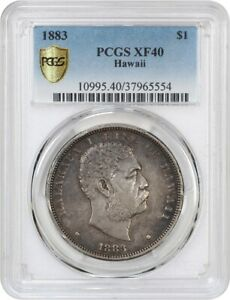 Click now to see the BUY IT NOW Price! 1883 HAWAII $1 PCGS XF40   HAWAII TERRITORY COINAGE