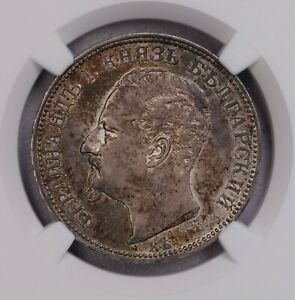 Click now to see the BUY IT NOW Price! NGC MS62 1891KB BULGARIA 2LEV SILVER  CONDITION