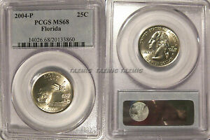 Click now to see the BUY IT NOW Price! 2004 P FLORIDA STATE QUARTER 25C PCGS MS68