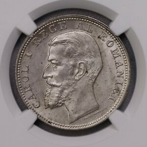 Click now to see the BUY IT NOW Price! NGC MS63 1900 ROMANIA 2L SILVERE KEY DATE LUSTER
