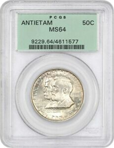 1937 ANTIETAM 50C PCGS MS64  OGH  OLD GREEN LABEL HOLDER