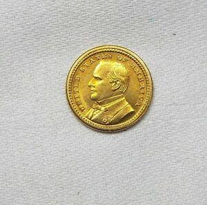 1903 LOUISIANA PURCHASE/MCKINLEY EXPOSITION COMMEMORATIVE GOLD $1 ALMOST UNC
