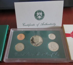 1996 S UNITED STATES MINT PROOF SET WITH CERTIFICATE OF AUTHENTICITY
