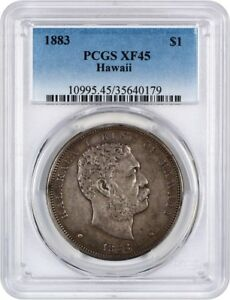 Click now to see the BUY IT NOW Price! 1883 HAWAII $1 PCGS XF45   COINS & TOKENS OF HAWAII & ALASKA