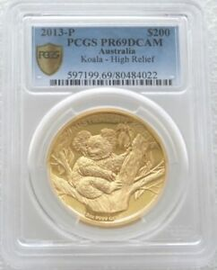 Click now to see the BUY IT NOW Price! 2013 AUSTRALIA KOALA HIGH RELIEF $200 DOLLAR GOLD PROOF 2OZ COIN PCGS PR69 DCAM