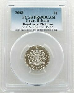 Click now to see the BUY IT NOW Price! 2008 ROYAL ARMS 1 ONE POUND PLATINUM PROOF COIN PCGS PR69 DCAM