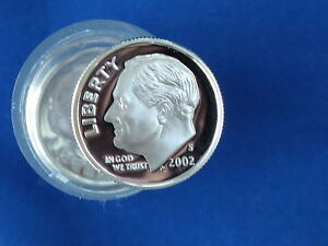 2002 S ROOSEVELT DIME SILVER PROOF LOT OF 20 COINS B6639