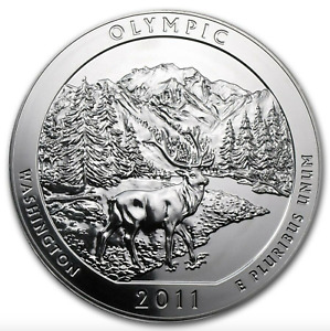 2011 5 OZ SILVER AMERICA THE BEAUTIFUL OLYMPIC NATIONAL PARK WA QTY AVAILABLE