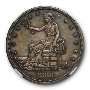 1880 TRADE DOLLAR T$1 NGC PF 58 PROOF PR KEY DATE CAC APPROVED POP 3