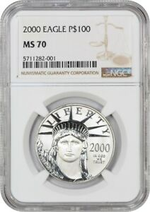 Click now to see the BUY IT NOW Price! 2000 PLATINUM EAGLE $100 NGC MS70   STATUE LIBERTY 1 OZ