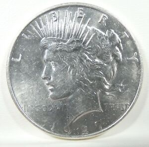 1927 D PEACE DOLLAR ALMOST UNCIRCULATED SILVER DOLLAR