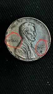 COIN1989 LINCOLN CENT DBL DATE 2 OR 3 D S SOME LIBERTY REV UNITED STATES ERROR