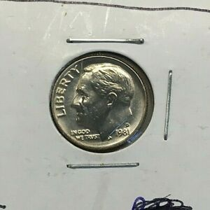 1981 P ROOSEVELT DIME  NICE FROM SET MODERN COIN DATE SET COIN