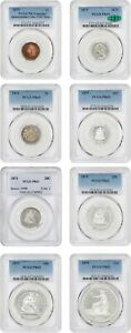 Click now to see the BUY IT NOW Price! 1875 PROOF SET PCGS/CAC PROOF UNC DETAILS 65  8 COINS 3CN CAC