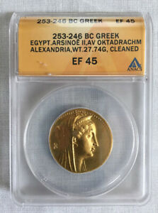 Click now to see the BUY IT NOW Price! PTOLEMAIC GOLD OKTADRACHM/OCTODRACHM ARSINOE II WIFE PTOLEMY II 253 BC ANACS
