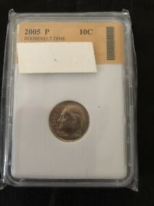 COIN DIME 2005 SLABBED DEALER'S LOT 611 PHILADELPHIA