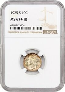 Click now to see the BUY IT NOW Price! 1925 S 10C NGC MS67  FB   FINEST KNOWN    MERCURY DIME   FINEST KNOWN