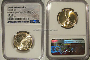Click now to see the BUY IT NOW Price! 2018 D INNOVATION DOLLAR $1 WASHINGTON SIGNED 1ST PATENT $1 NGC MS 68