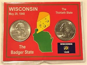 2004 P & D QUARTERS IN WISCONSIN STATE CARD HOLDER
