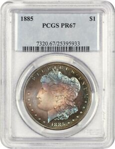 Click now to see the BUY IT NOW Price! 1885 $1 PCGS PR 67   MORGAN SILVER DOLLAR
