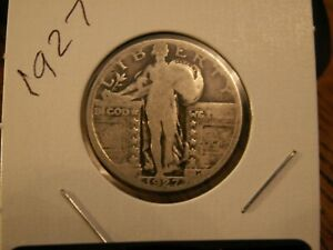 NICE 1927 STANDING LIBERTY QUARTER 92YRS OLD      90  SILVER
