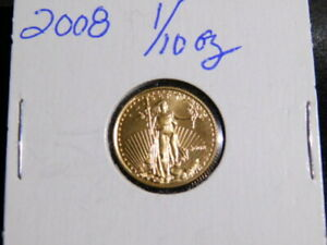 2008  $5 GOLD EAGLE 1/10 OZ GOLD UNCIRCULATED