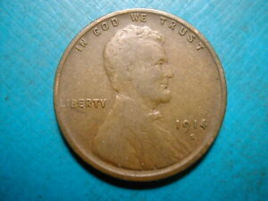 1914 S LINCOLN WHEAT CENT  DATE 49