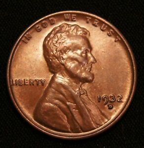 1932 D  LINCOLN WHEAT CENT AU