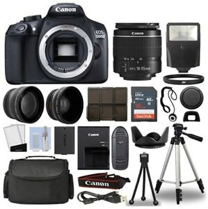 CANON REBEL T6 1160C017 K63 DSLR CAMERA WITH 3 LENS 18 55MM AND ACCESSORIES