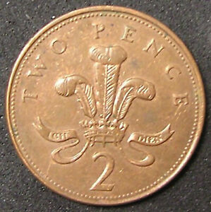 1 COIN FROM GREAT BRITAIN.  2 PENCE.  1994.