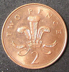 1 COIN FROM GREAT BRITAIN.  2 PENCE.  1995.