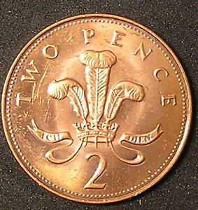 1 COIN FROM GREAT BRITAIN.  2 PENCE.  2000.