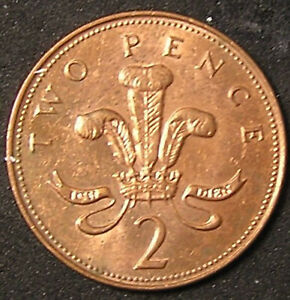 1 COIN FROM GREAT BRITAIN.  2 PENCE.  2001.
