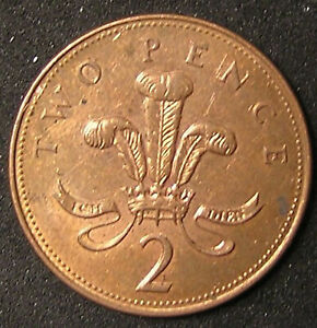 1 COIN FROM GREAT BRITAIN.  2 PENCE.  2003.