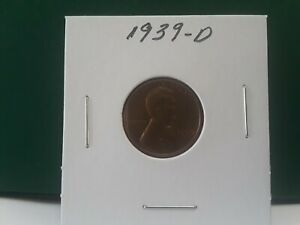 1939 D LINCOLN CENT XXF TO AU CONDITION BUYER TO GRADE