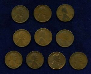 U.S. LINCOLN SMALL CENTS: 1915 1915 D 1916 1916 D 1916 S 1917 1917 S 1918