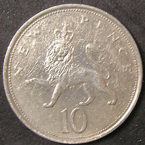 1 COIN FROM GREAT BRITAIN.  10 PENCE.  1979.