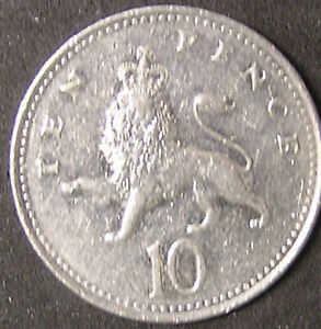 1 COIN FROM GREAT BRITAIN.  10 PENCE.  2006.