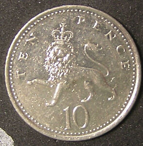 1 COIN FROM GREAT BRITAIN.  10 PENCE.  2002.