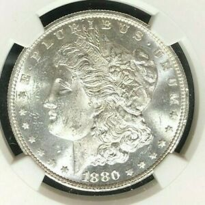 1880/9S VAM 11 NGC MS 62 MORGAN SILVER DOLLAR GENE L HENRY LEGACY COLLECTION