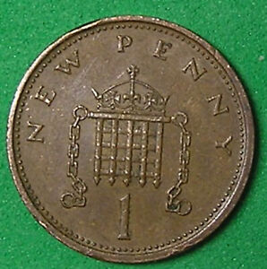 1 COIN FROM GREAT BRITAIN.  1 PENNY.  1971.